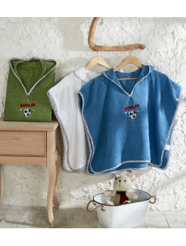 ECOCOTTON-LITTLE SHEEP %100 ORGANİK NAKIŞLI PANÇO SETİ